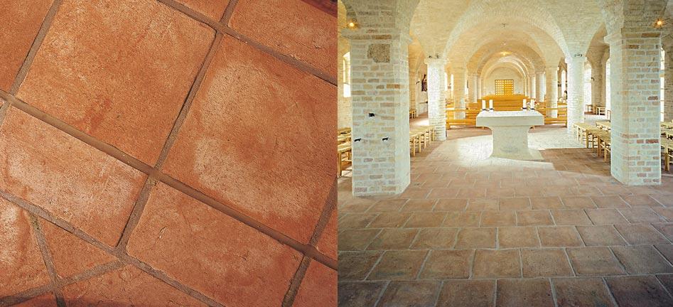 Sannini facciate ventilate pareti frangisole e pavimenti - Pavimento in cotto per esterno ...